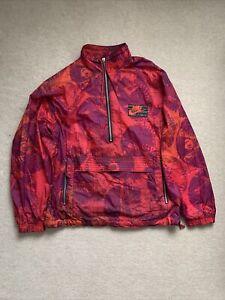 Vintage 90s Retro Nike Track Jacket Logo Pattern Size Mens M