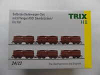 TRIX 24122 Selbstentladewagen-Set mit 6 Wagen Erz IId H0 Gleichstrom DC NEUWARE