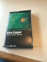 Alice Cooper Billion Dollar Babies Cassette Tape RARE, Vintage 1973
