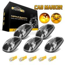 5PC Clear Cab Marker Light Lens+194 5730 Amber LED for Dodge Ram 2500/3500 99-02