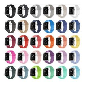 Apple Watch Silicone Adjustable Strap, 38mm - 40mm, 42mm - 44mm, S/M, M/L