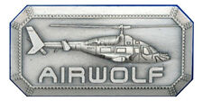 Airwolf TV Series Helicopter Metal Logo Pin