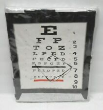 Vinyl Shower Curtain Eye Chart Vision NEW 70 x 72