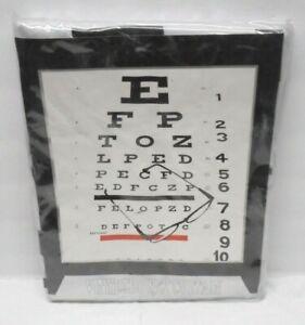 Vinyl Shower Curtain Eye Chart Vision NEW 70 x 72