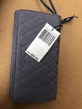 Vera Bradley RFID Crossbody Wallet  Carbon Gray NEW NO TAG