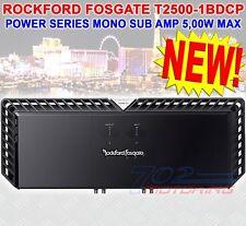 NEW ROCKFORD FOSGATE T2500-1BDCP 5000 WATT MAX CLASS BD POWER MONO SUB AMPLIFIER