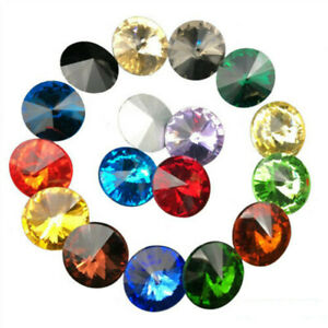 6/8/10/12/14/16/18mm XILION ELEMENTS Rhinestone Crystal glass Rivoli Beads  DIY