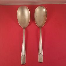 2 Vintage Holmes & Edwards Large Oversize Dipping/Sipping Spoons