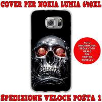 Cover case custodia protettiva in tpu per Nokia Lumia 640XL fantas TESCHIO OCCHI