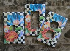 ❤️Switch Plate Outlet Covers made w/Mackenzie-Childs Courtly Flower Market❤️