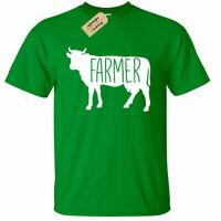 KIDS BOYS GIRLS Farmer Cow T-Shirt Country Animals