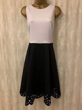9e8aaf5ef07c Ted Baker Izabell Scallop Colour Block Fit Flare Full Skirt Skater Dress 12  14