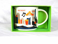 STARBUCKS YOU ARE HERE COFFEE  MUG DETROIT NEW ! 14 oz