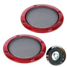 "2x Red 3"" DIY Hifi CAR Speaker Decorative Protective Circle Mesh Circle Grille"