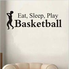 Eat Sleep Play Basketball Letter Decal Wall Sticker Room Sports Wall Sticker