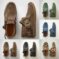 Damen Sneaker Stiefel Loafers High Top Moccasin Flache Schuhe Freizeit Halbschuh