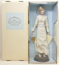 The Franklin Mint Princess Diana Doll With Ivory Dress Worn In Saudi Arabia NIB