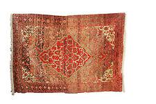 "Oriental carpet antique handmade Persian wool Malayer rug size 6'6""x4'5"""