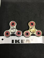 2pcs/set Gold Plated Fidget Spinners , Metallic , Gold And Sliver , US Seller,
