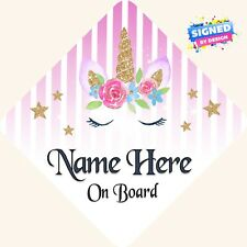 Personalizado De Niño//Bebé A Bordo Coche Firmar ~ pequeña Princesa a bordo ~ púrpura