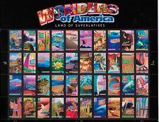 WONDERS OF AMERICA Land Of Superlatives 40 Stamps Sheet 39¢ 2005 Mint