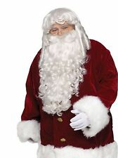New Professional Santa Wig & Beard Set by Fun World Christmas 7528 Costumania