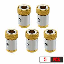 5x Cabeza De Taladro Destornillador Bits fuerte Magnetizador Metal Universal Magnetica Anillo.