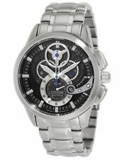 Citizen Eco-Drive AT2060-52E Men's Dress Chronograph 3D Black Dial Date Watch