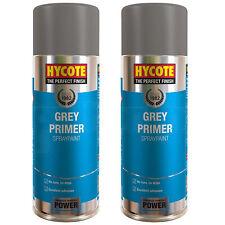 2 x Hycote Grey Primer Spray Paint Aerosol Car Multi-Purpose Preparation 400ml
