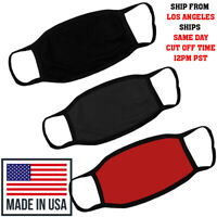 MADE IN USA 3 COLOR PACK Double Layer Cotton Washable Reusable Unisex Face Mask