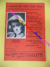spartito serie L'ALBUM DEI CHA-CHA-CHA 1961 GALLETTI cubano no cd lp mc dvd
