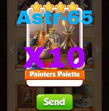 Coin Master Cards 10x Painters Palette Fast Delivery