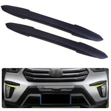 2X Car 44cm Carbon Fiber Rubber Bumper Edge Protector Guard Scratch Sticker