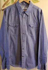 GAP 1969 Men's Western Style Shirt Button Front Long Sleeve Cotton XL Blue~ R6