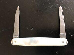 "Remington 3"" Pen Knife, Circle Remington Stamp, R8004, 2 Blades, Pearl Handle"