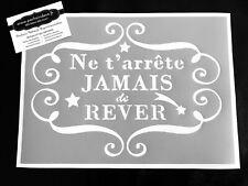 Pochoir Adhésif Réutilisable 30 x 20 cm Affiche Rêver Vintage / Made in FR