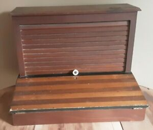 Antique Roll Top Desk Table Top Lap Small