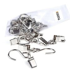 Kuuqa 40 Pack Stainless Steel Curtain Clip String Party Light Hanger Hanging ...