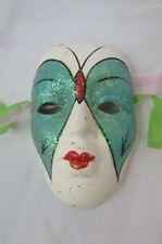Mardi Gras 4'' Masks White with Butterfly Ceramic Decorative Free Shipping