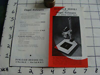 brochure: Burleigh Brooks presents VEIGEL ENLARGER, 1940's ??