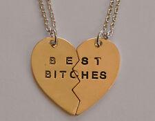Modeschmuck-Halsketten mit Herz-Schliff und dem Thema Familie & Freunde
