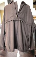 TOMMY BAHAMA MENS VENTED PULLOVER JACKET Sz Small WINDBREAKER GOLF 1/2 ZIP Brown