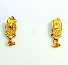 Traditional Women Jhumki New Gift Jewelry 18k Gold Plated Small Earrings Indian