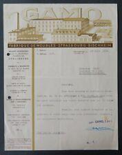 Facture STRASBOURG BISCHHEIM 1934 GAMIO MEUBLES  illustrée 53