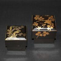 Antiques Japanese lacquer ware Gold NAKIE ~1868 Edo Perio Kimono from JAPAN b096
