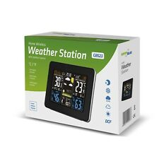 Home Wireless Weather Station Outdoor Sensor DCF Moon Phase GreenBlue GB 523 UK