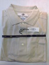 NWT MENS LARGE DONALD JEWELL MERCERIZED COTTON PIQUE GOLF SHIRT TAUPE