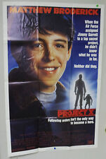 Original Vintage Project X Movie Poster - Matthew Broderick - 1987