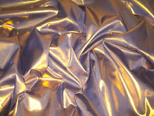 "GOLD SHOT PURPLE METALLIC 45"" FABRIC STIFF GLIMMER 2SIDES DRESS DECOR SKIRT"