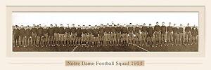 VINTAGE NOTRE DAME FOOTBALL 1914 PANORAMIC PRINT 11.75 X 36  W/DOUBLE FAUX MATTE